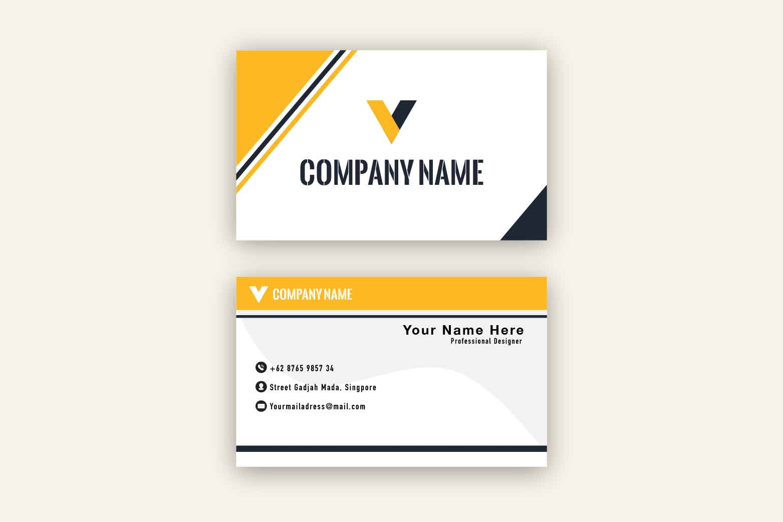 Elegant Business Card Template example image 2