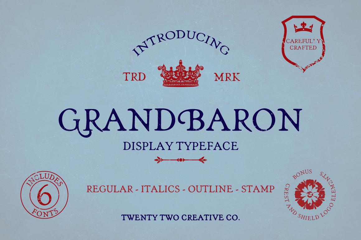 Grand Baron - A Vintage Typeface & Bonus example image 1