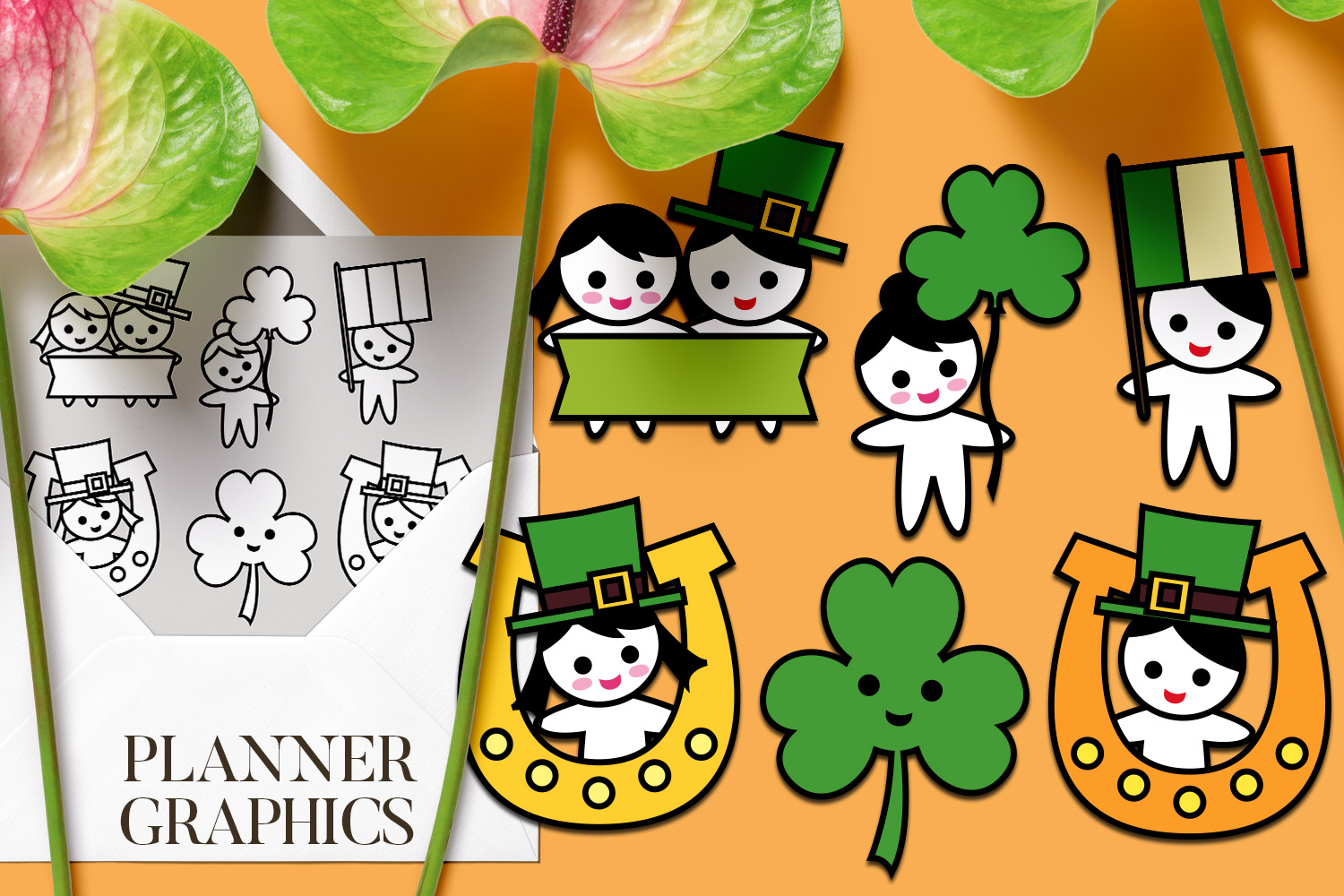 Holidays Bundle - Planner Graphic Illustrations example image 21