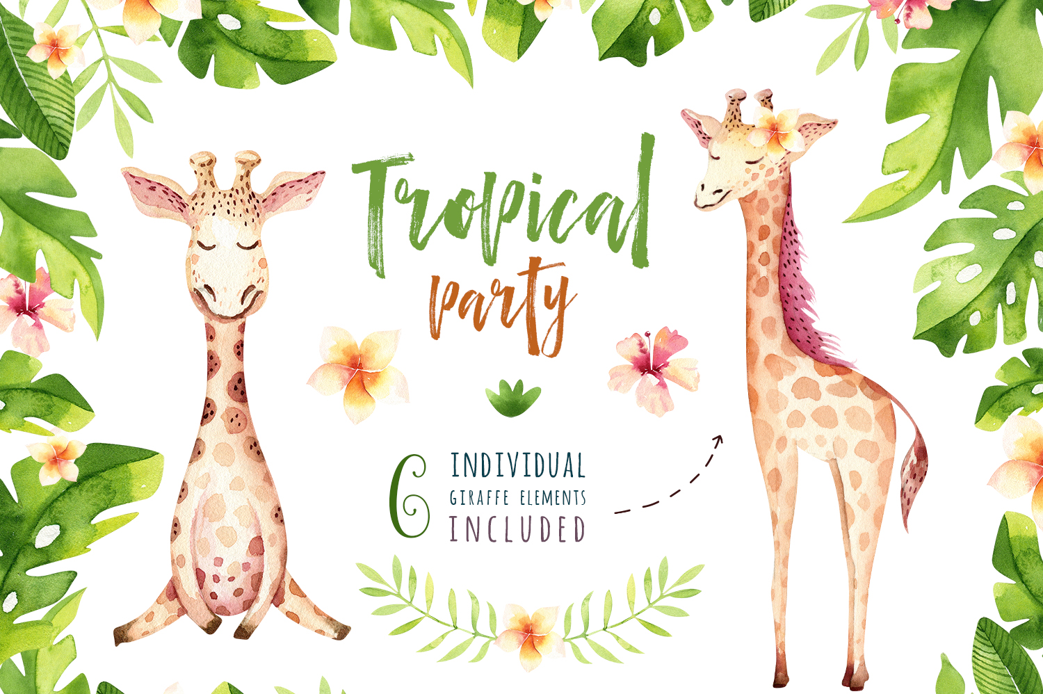 Giraffe collection. Tropical party example image 4