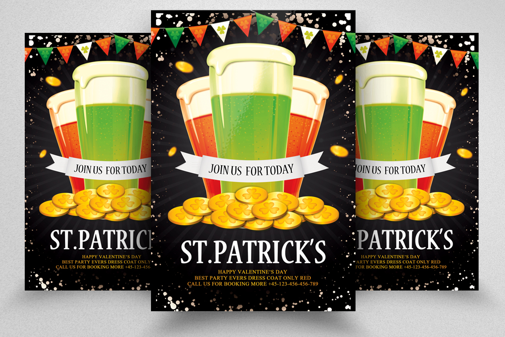 4 St. Patrick's Day Flyers Bundle example image 3
