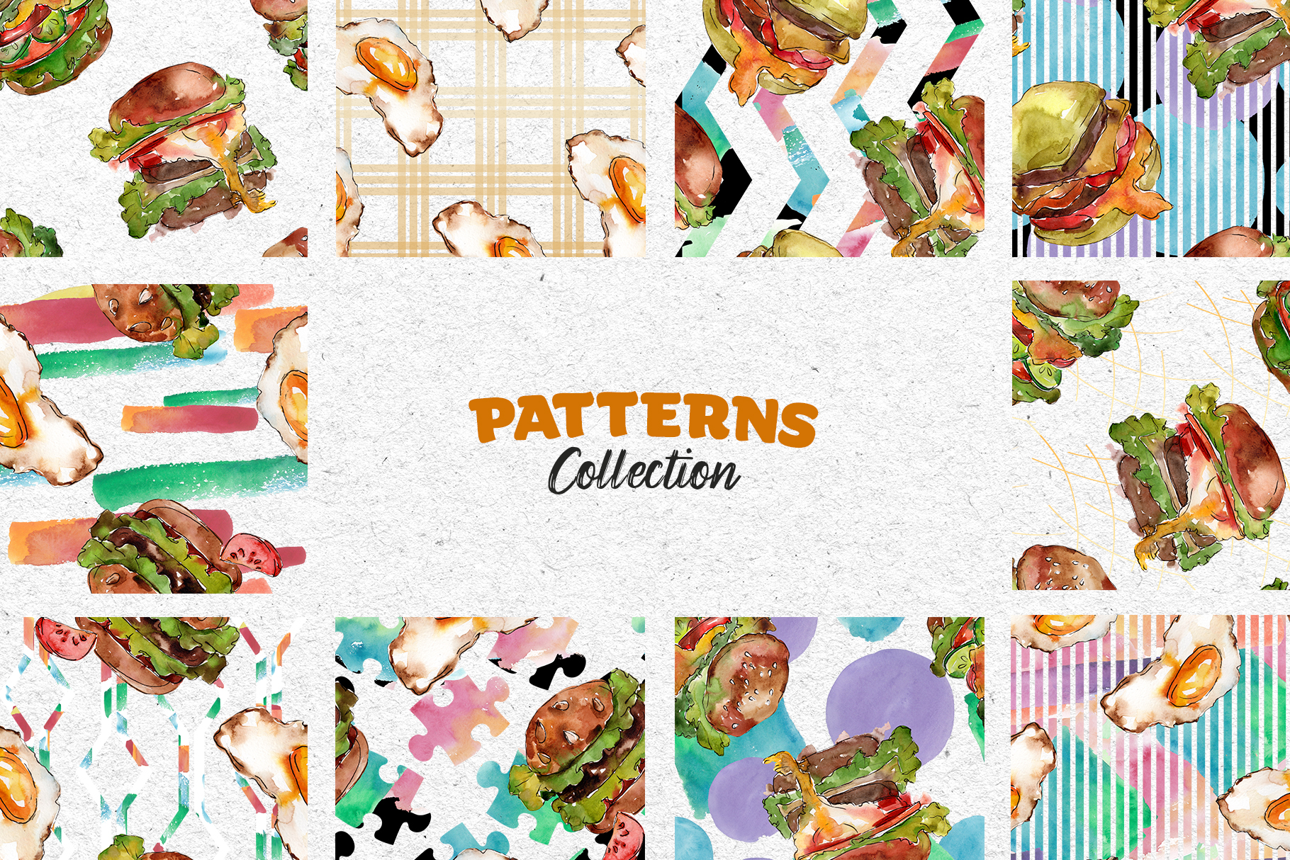 Hamburger Watercolor png example image 5