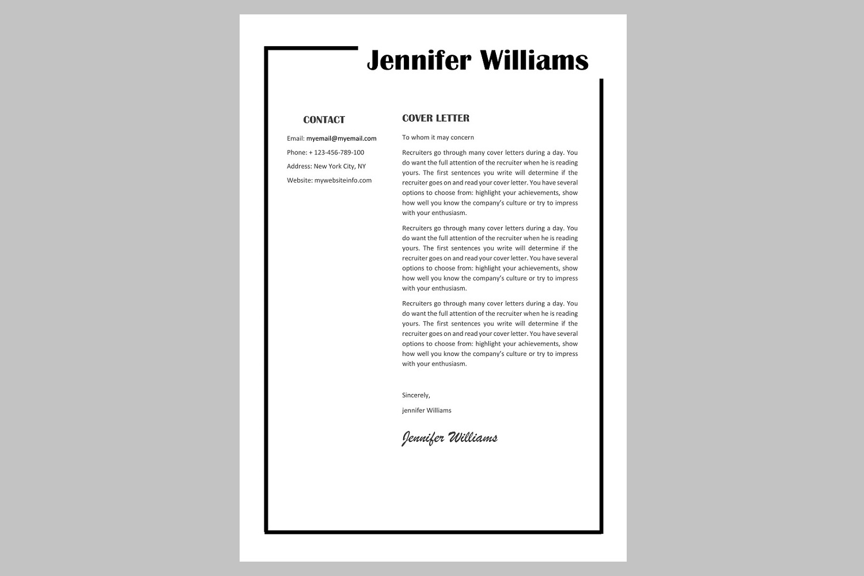 Creative resume template / CV example image 3