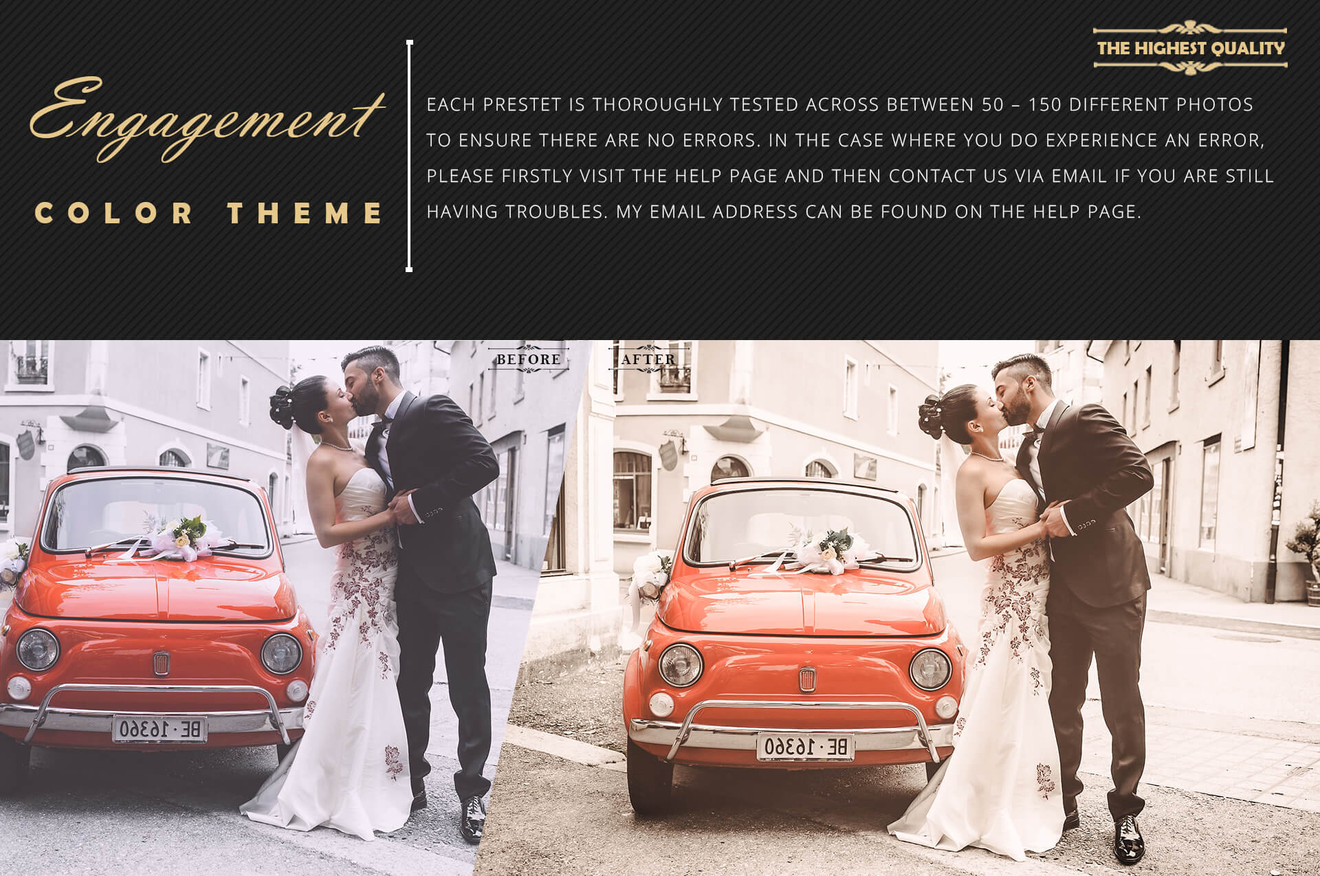Engagement color grading lightroom presets theme example image 6