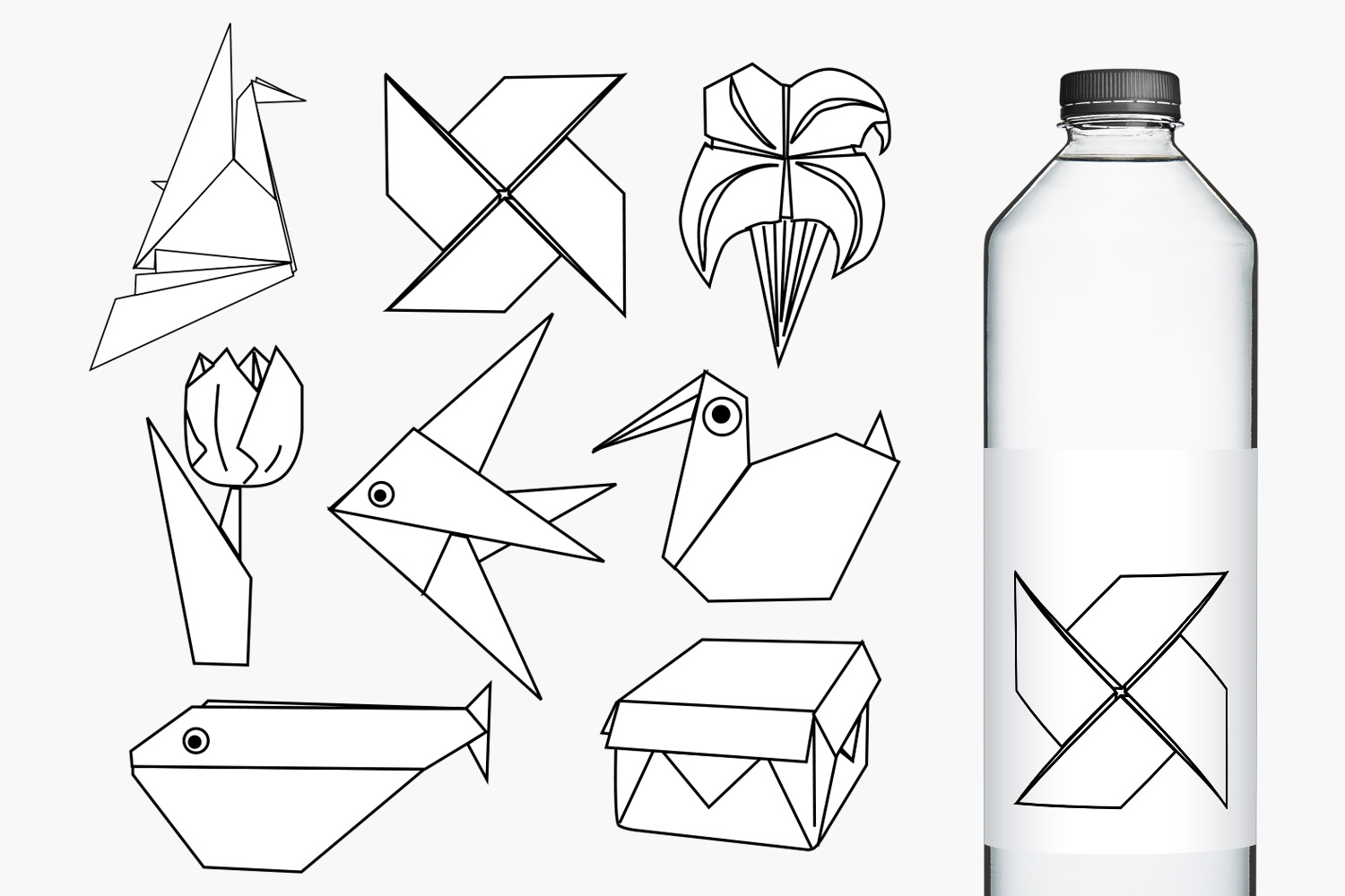 Paper Art Origami Illustrations example image 2