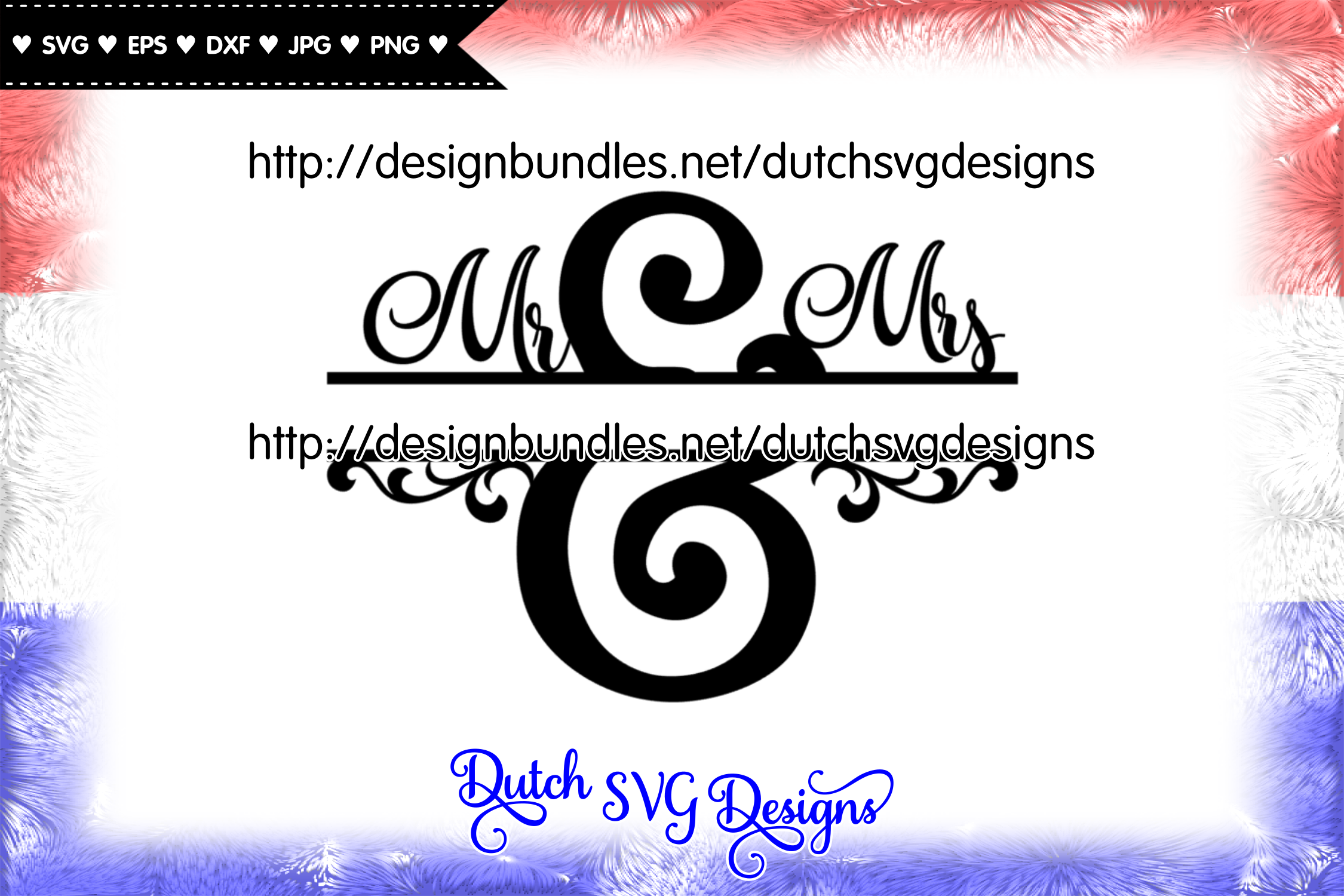 Split monogram Mr and Mrs cut file, mr & mrs monogram svg example image 1