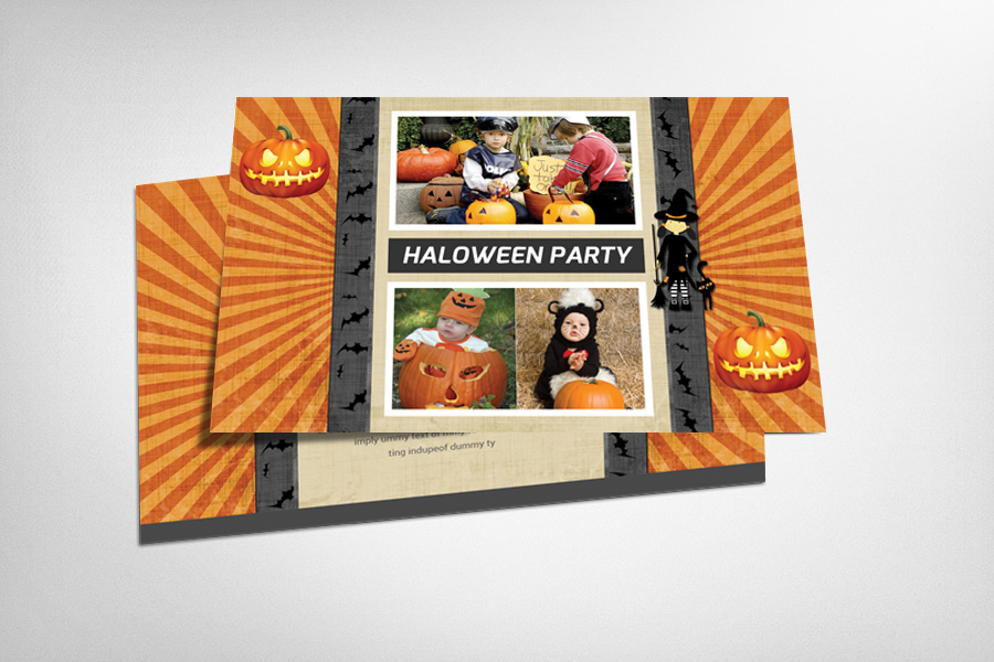 Halloween Party Postcard Template example image 1