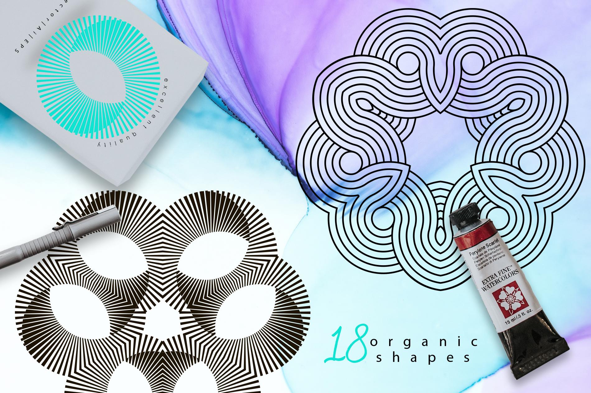 Illusion linear geometric shapes example image 4