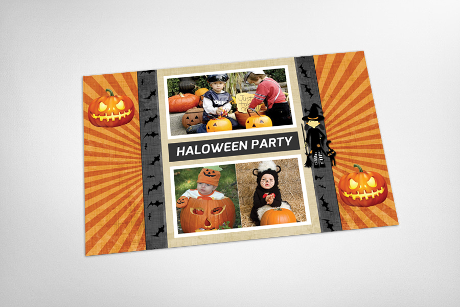 Halloween Party Postcard Template example image 3