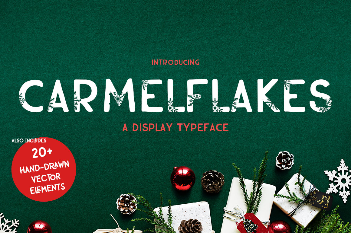 Carmelflakes Christmas Font & Doodles example image 1