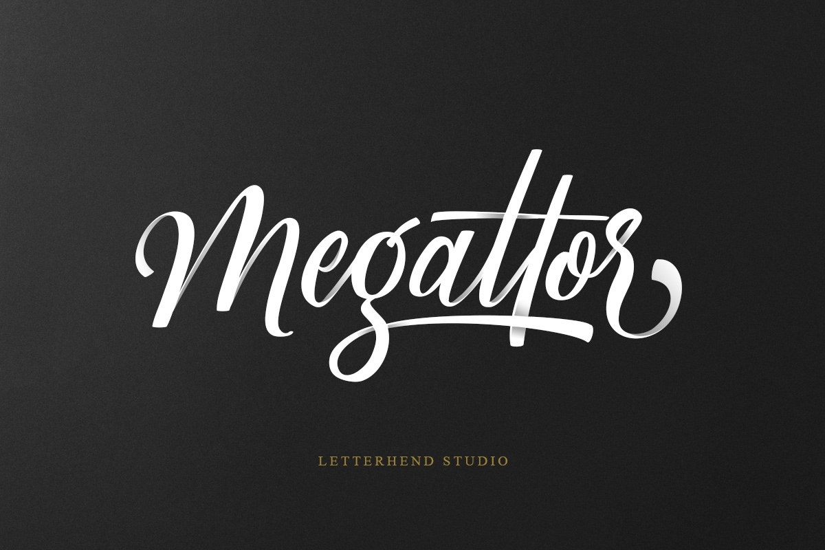 Megattor typeface example image 1