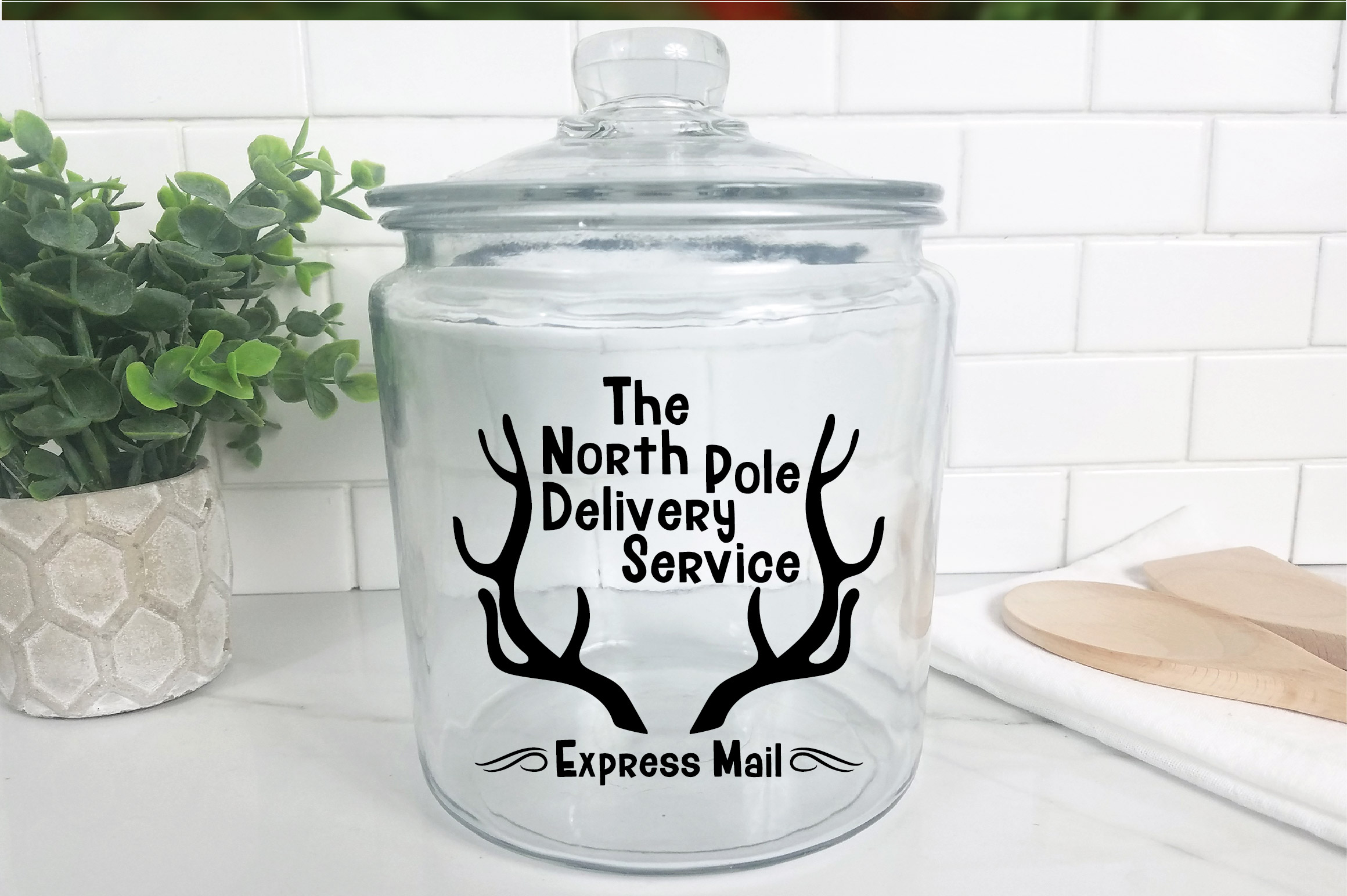 Christmas SVG Cut File - North Pole Delivery Service SVG DXF example image 9
