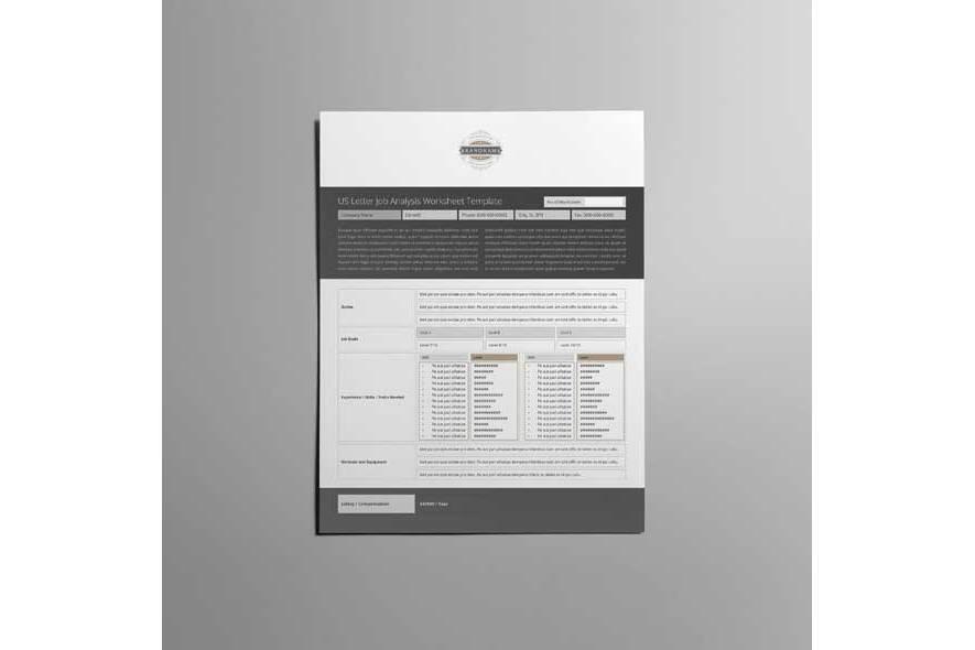 US Letter Job Analysis Worksheet Template example image 2