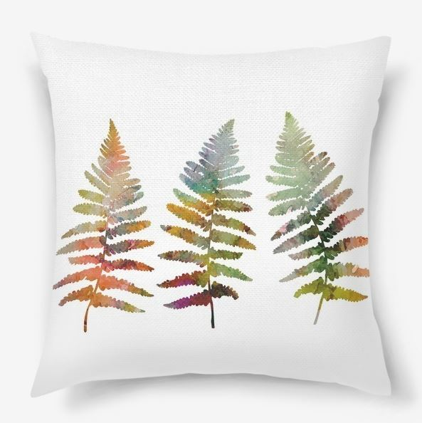 Fern leaves illustration in watercolor style example image 2