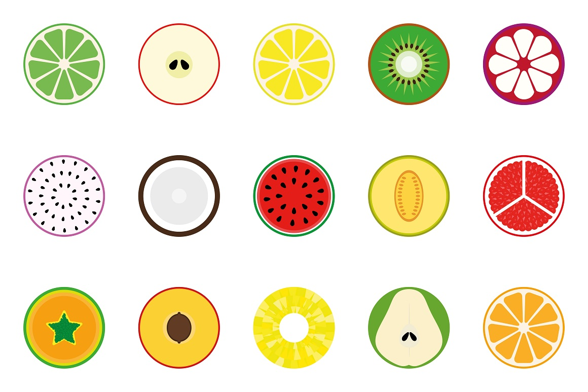 Collection of vector fruit icons example image 1