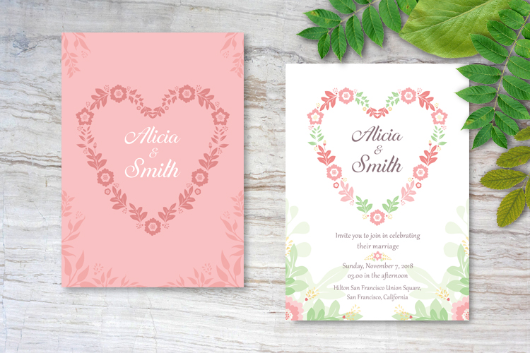 Floral Wedding Invitations example image 3