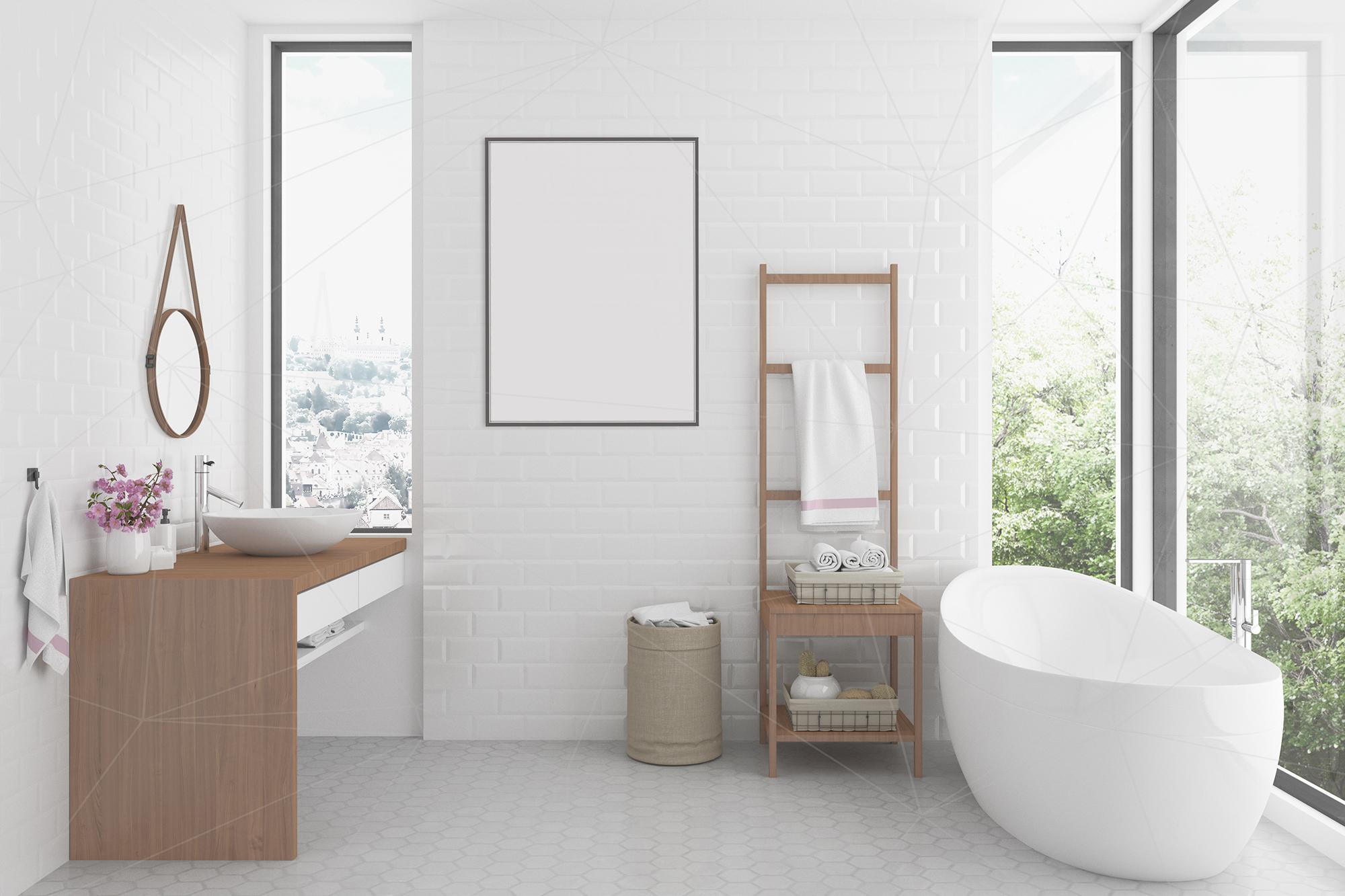 Interior mockup bundle - bathroom background example image 4