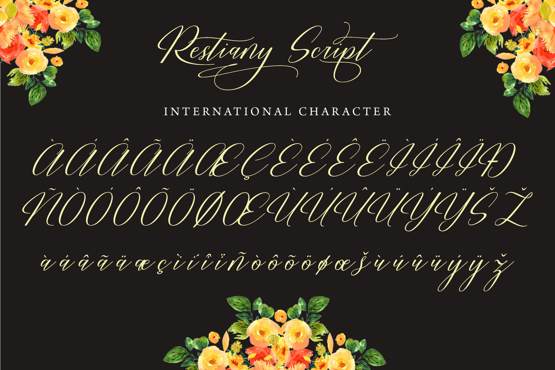 Restiany Script | Sweet Font example image 9