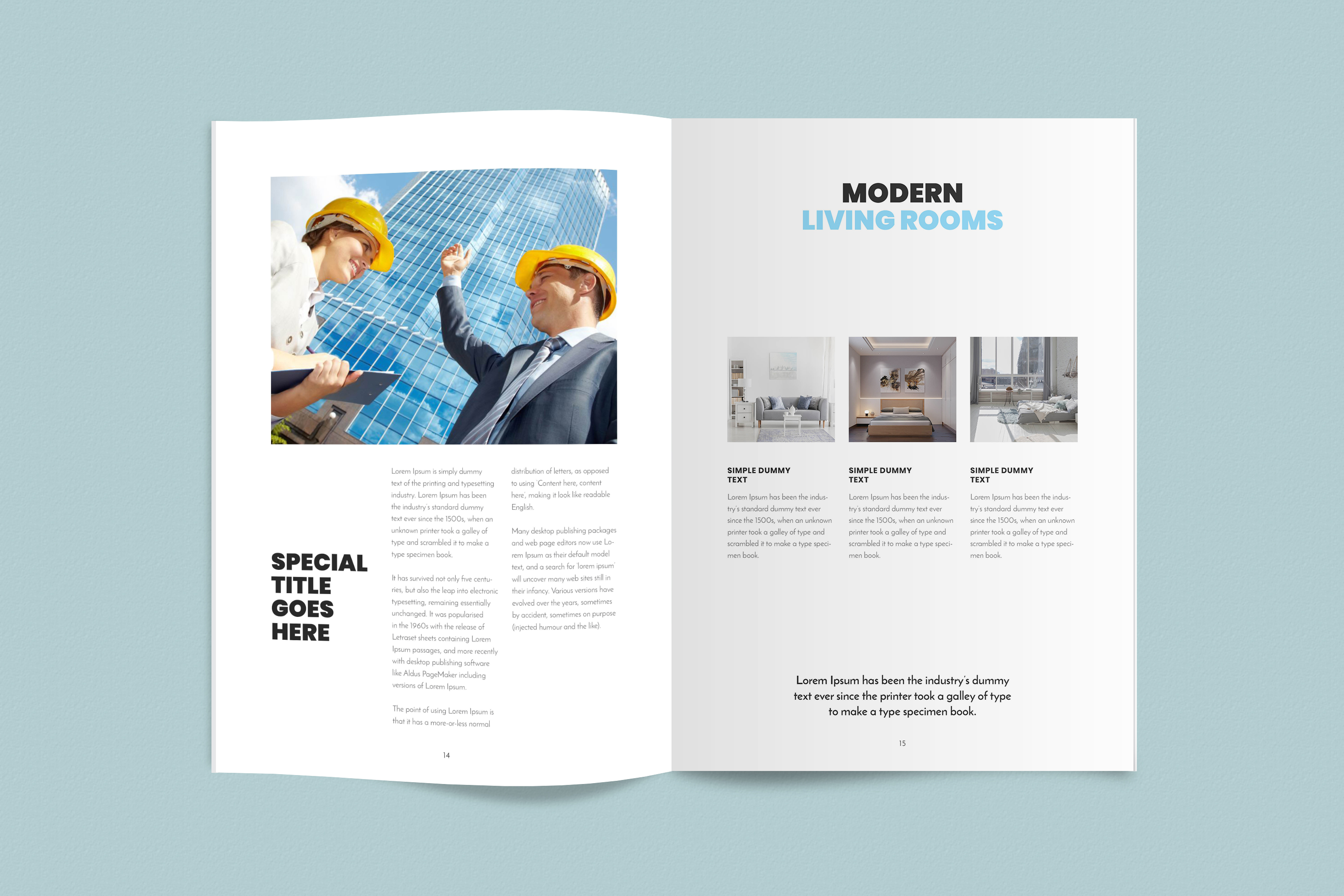 InDesign NANO Magazine Template example image 8