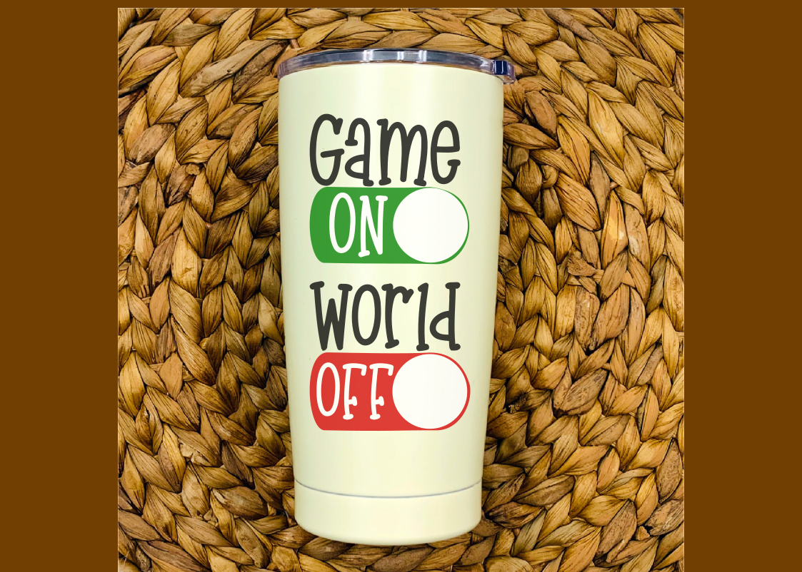 Game On World Off - A Gaming SVG example image 3