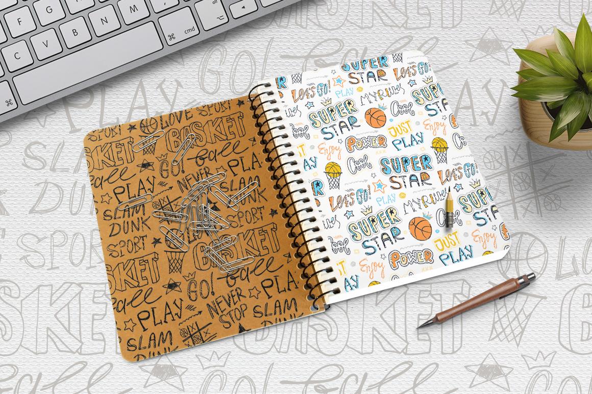 Set Sketch Basketball patterns example image 2