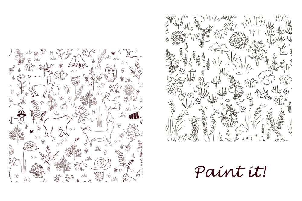 Forest bundle. 18 Seamless Patterns example image 10