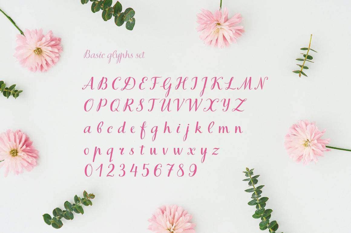 Books Script—handwritten font example image 4