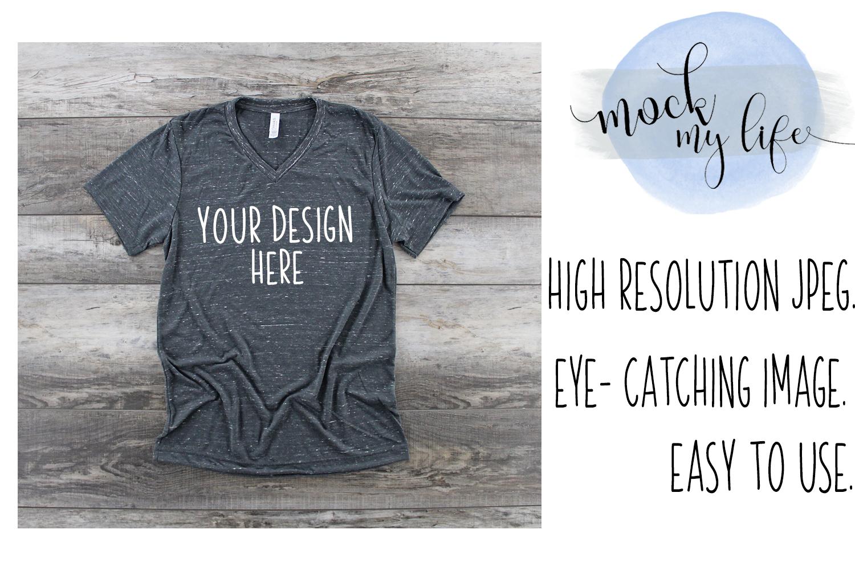 Bella Canvas Mockup / Plain Shirt Mock up / Charcoal Marble example image 1