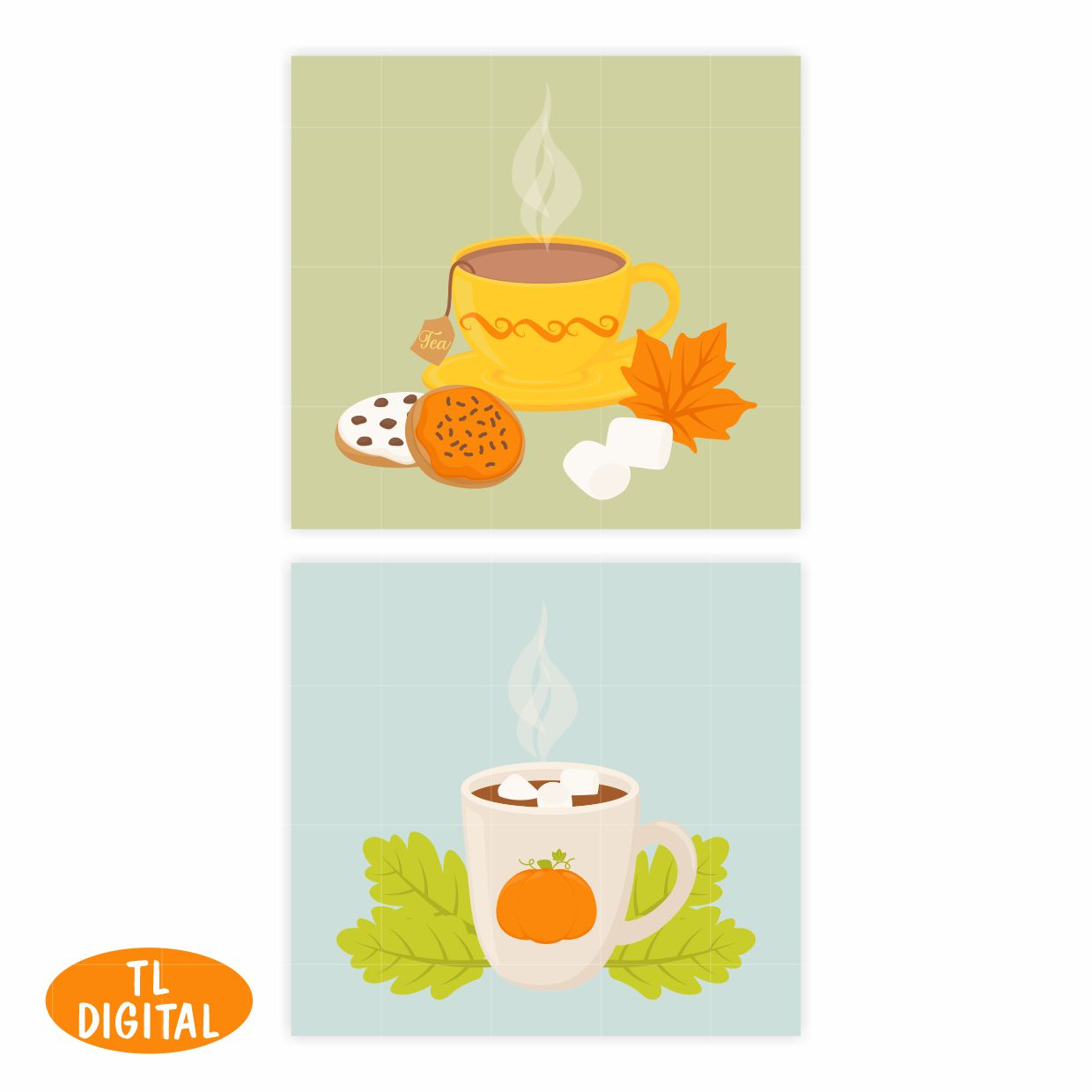 Pumpkin Spice Fall Treats Clipart - 32 PNG Graphics example image 4