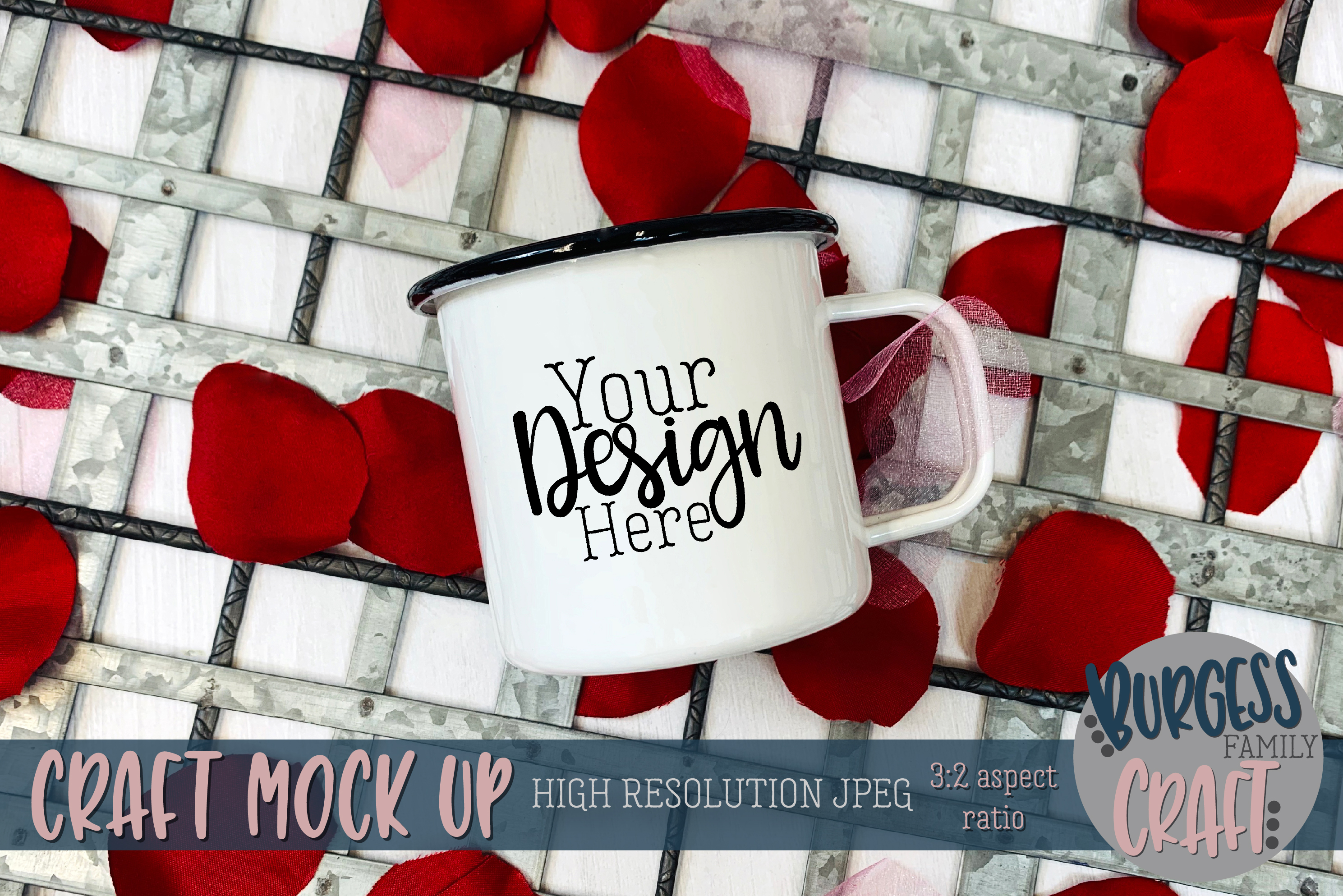 Valentine camp-style mug Craft mock up example image 1