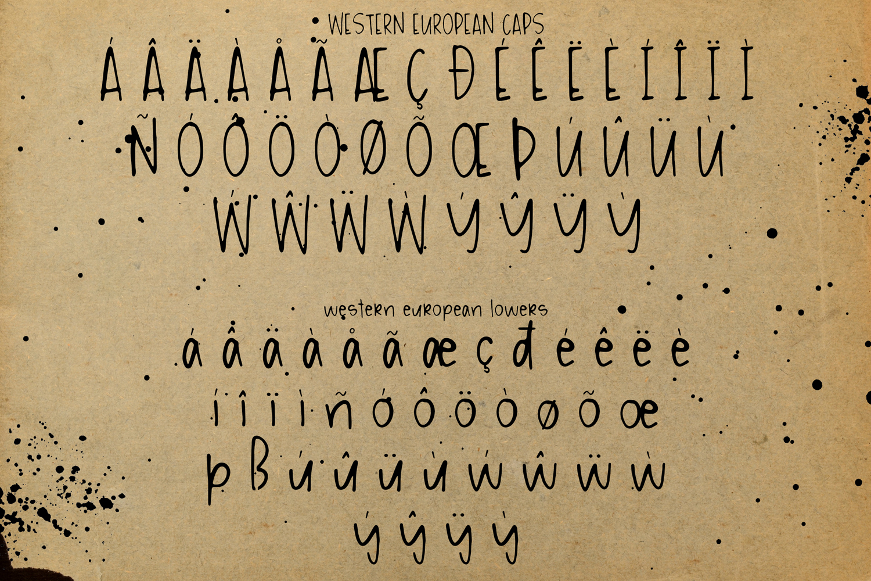 Messy Ink Pen Handwritten Font example image 6