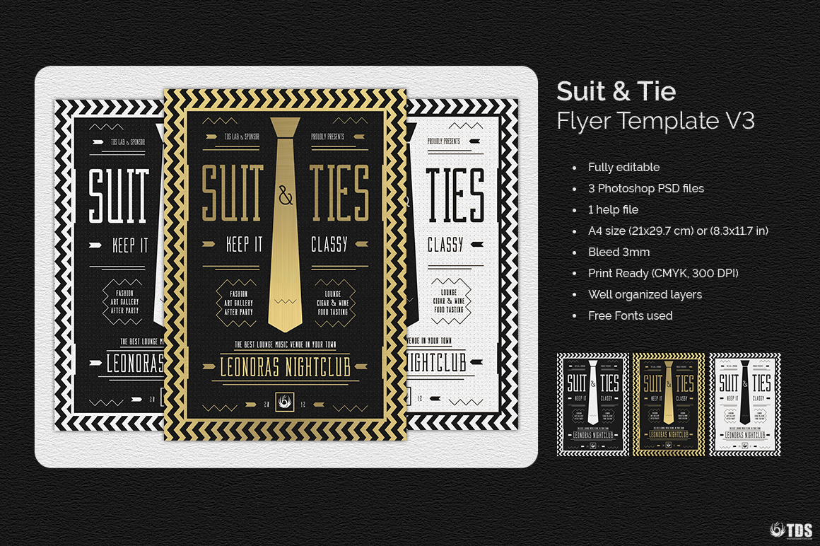 Suit and Tie Flyer Template V3 example image 3