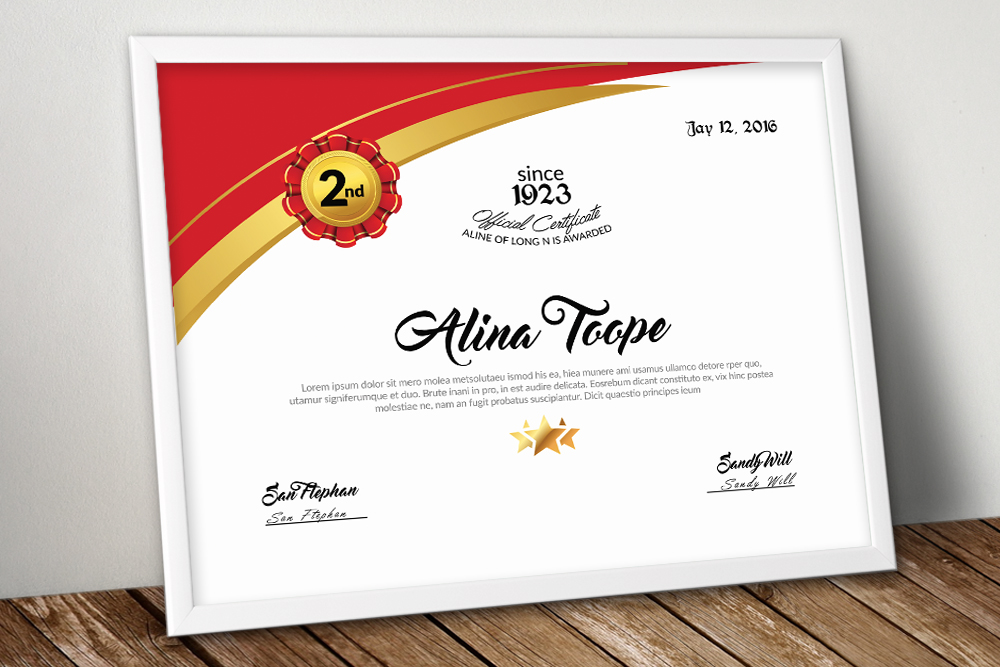 10 Certificates Template Bundle example image 9