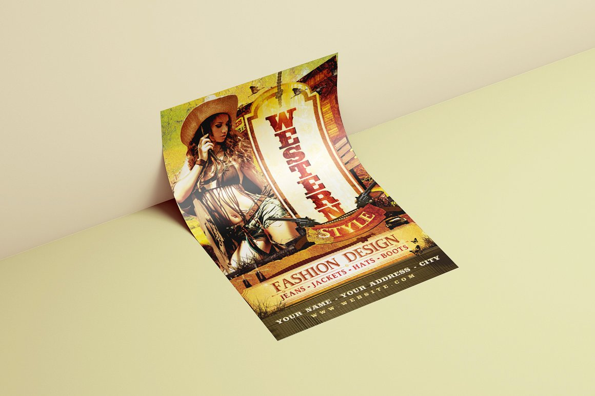 Western Style Flyer Template example image 3