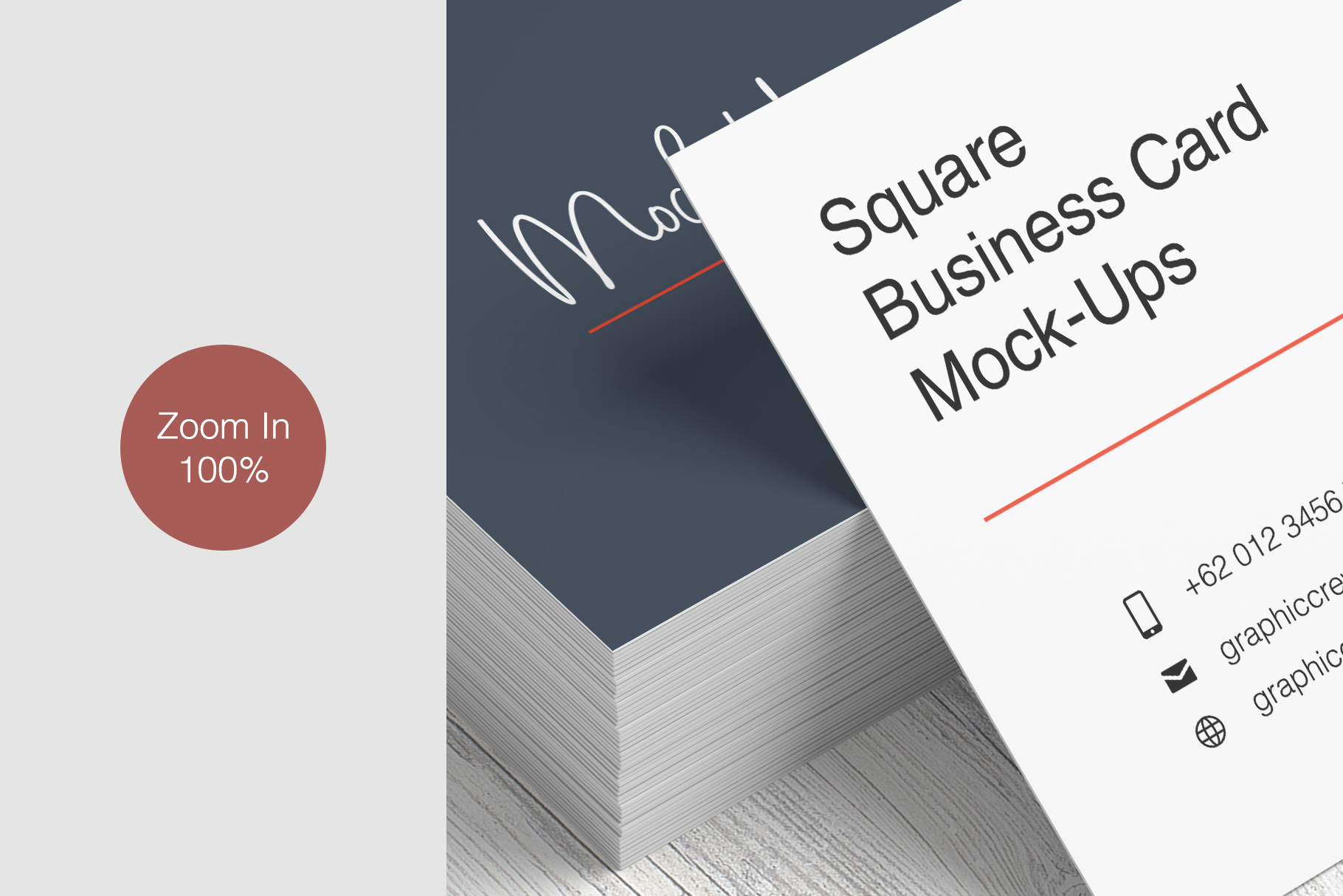 Square Business Card Mockup example image 12