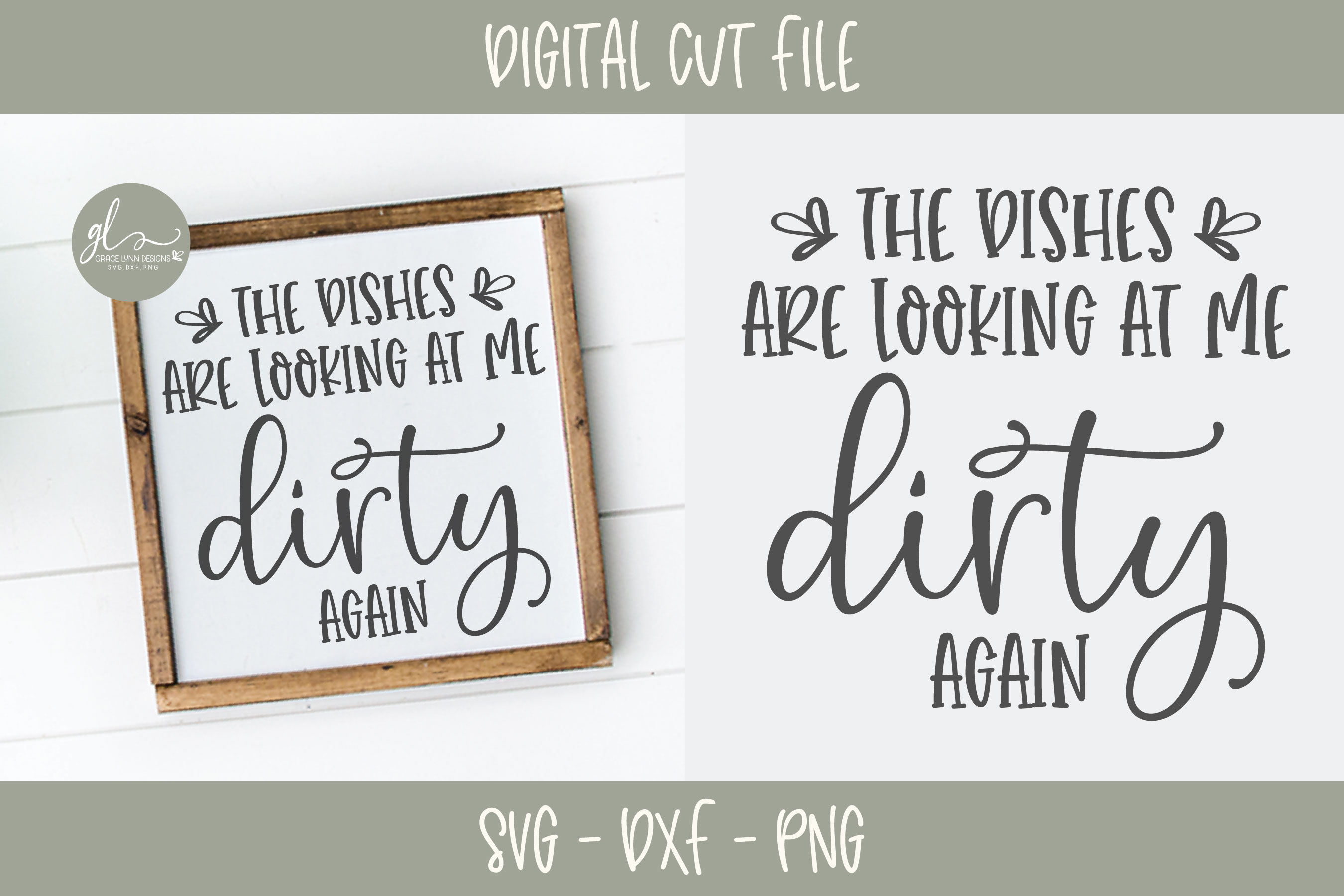 The Dishes Are Looking At Me Dirty Again - Kitchen SVG example image 1