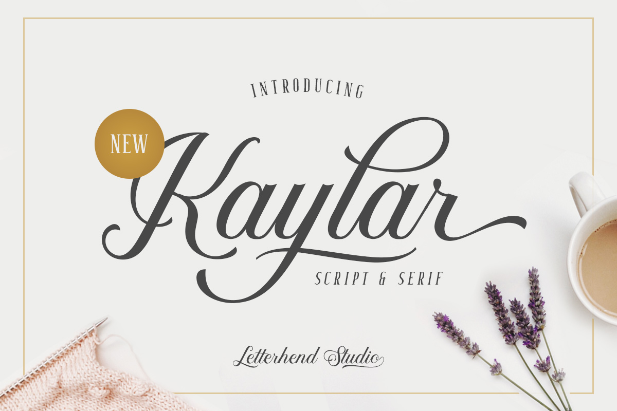 Kaylar - Elegant Script & Serif example image 1