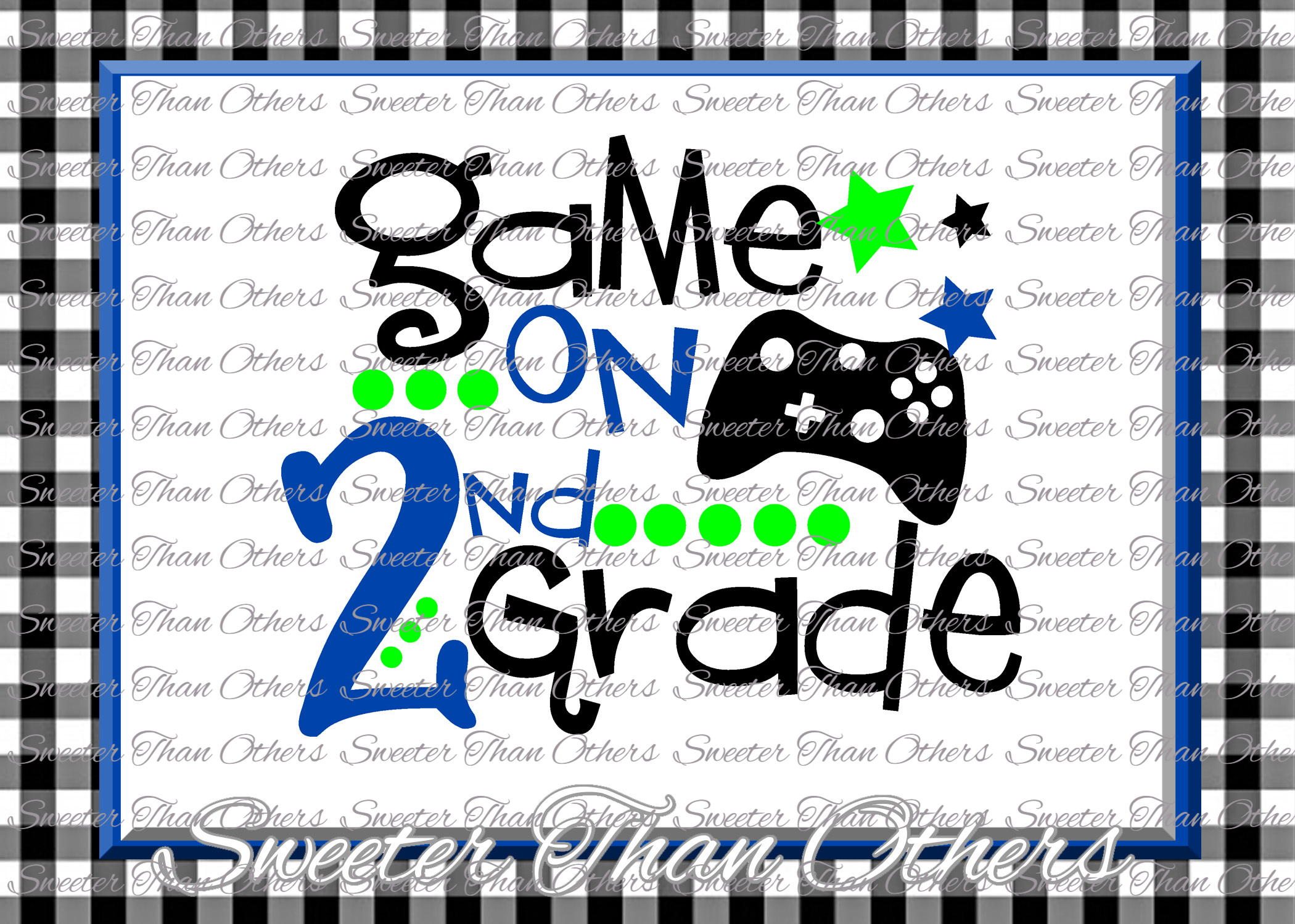 Second Grade SVG 2nd Grade Game On cut file example image 1