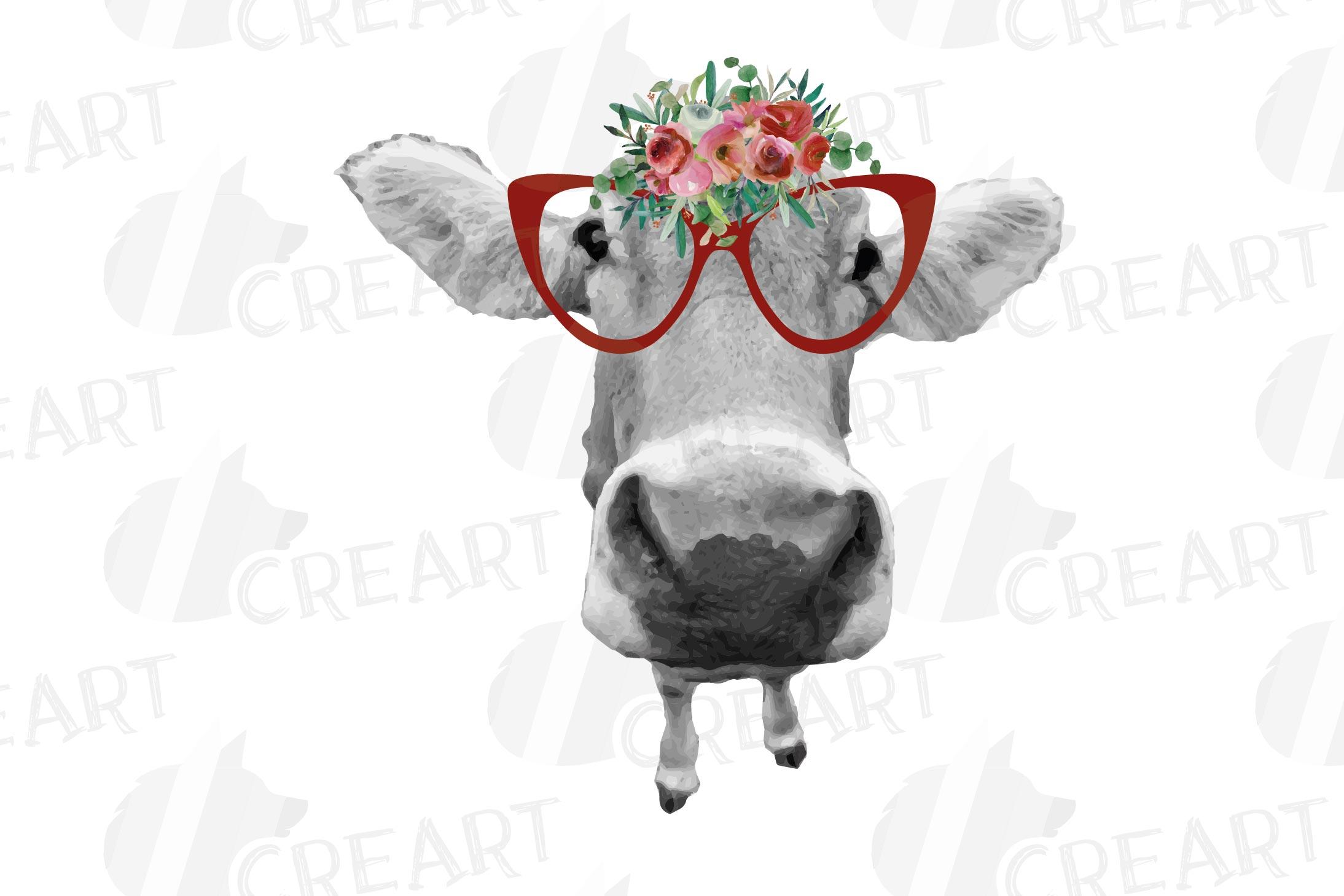 Not today Heifer printable shirt, mug, card floral cow png example image 8