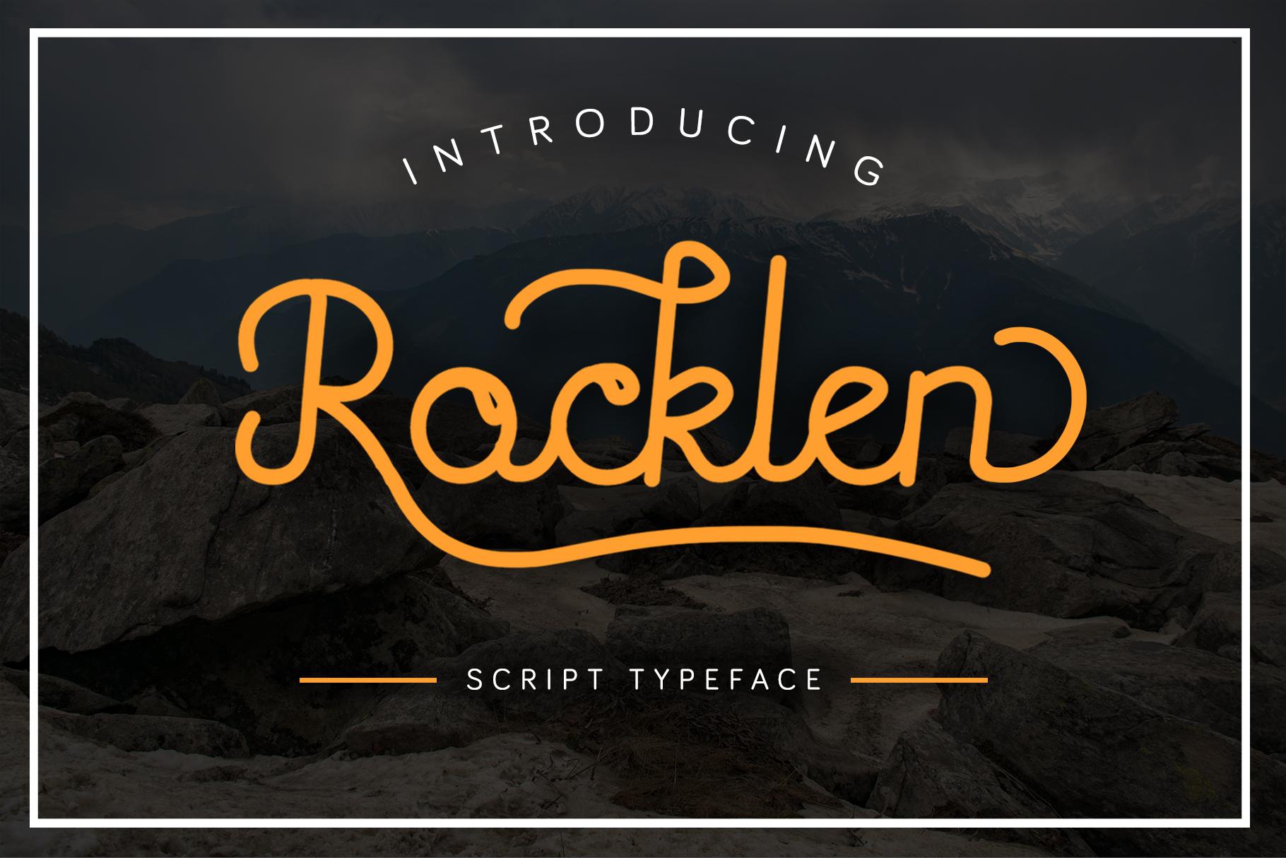 Rocklen Monoline Script example image 1