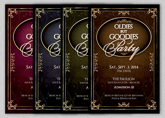 Oldies Goodies Party Flyer Template example image 3