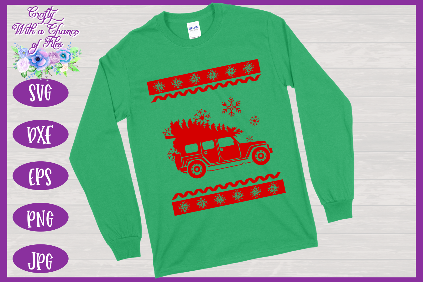 Christmas SVG - Ugly Sweater Party Shirt Design example image 4