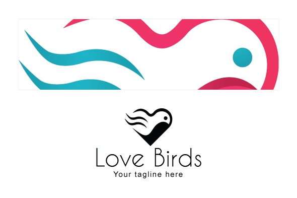 Love Bird - Abstract Creative Stock Logo Template example image 3