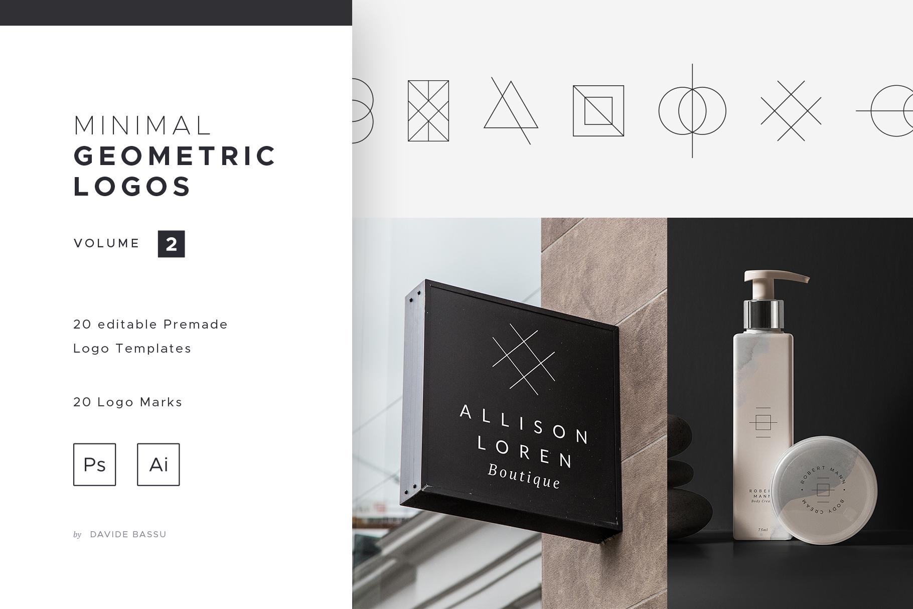 Minimal Geometric Logos - Volume 2 example image 1