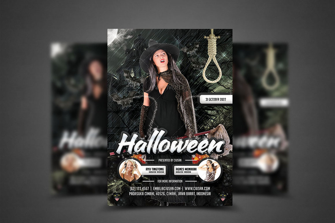 Halloween Flyer Template - Bundle example image 8