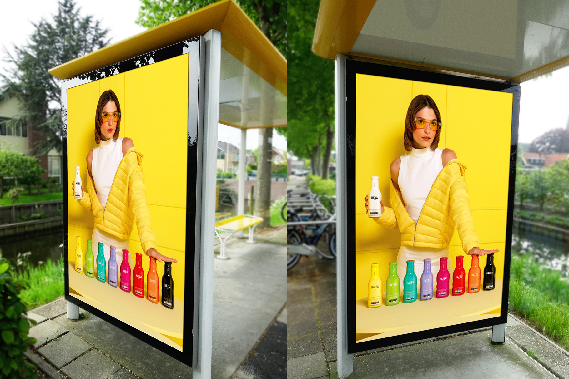 Realistic Bus Stop Poster Mockup example image 1