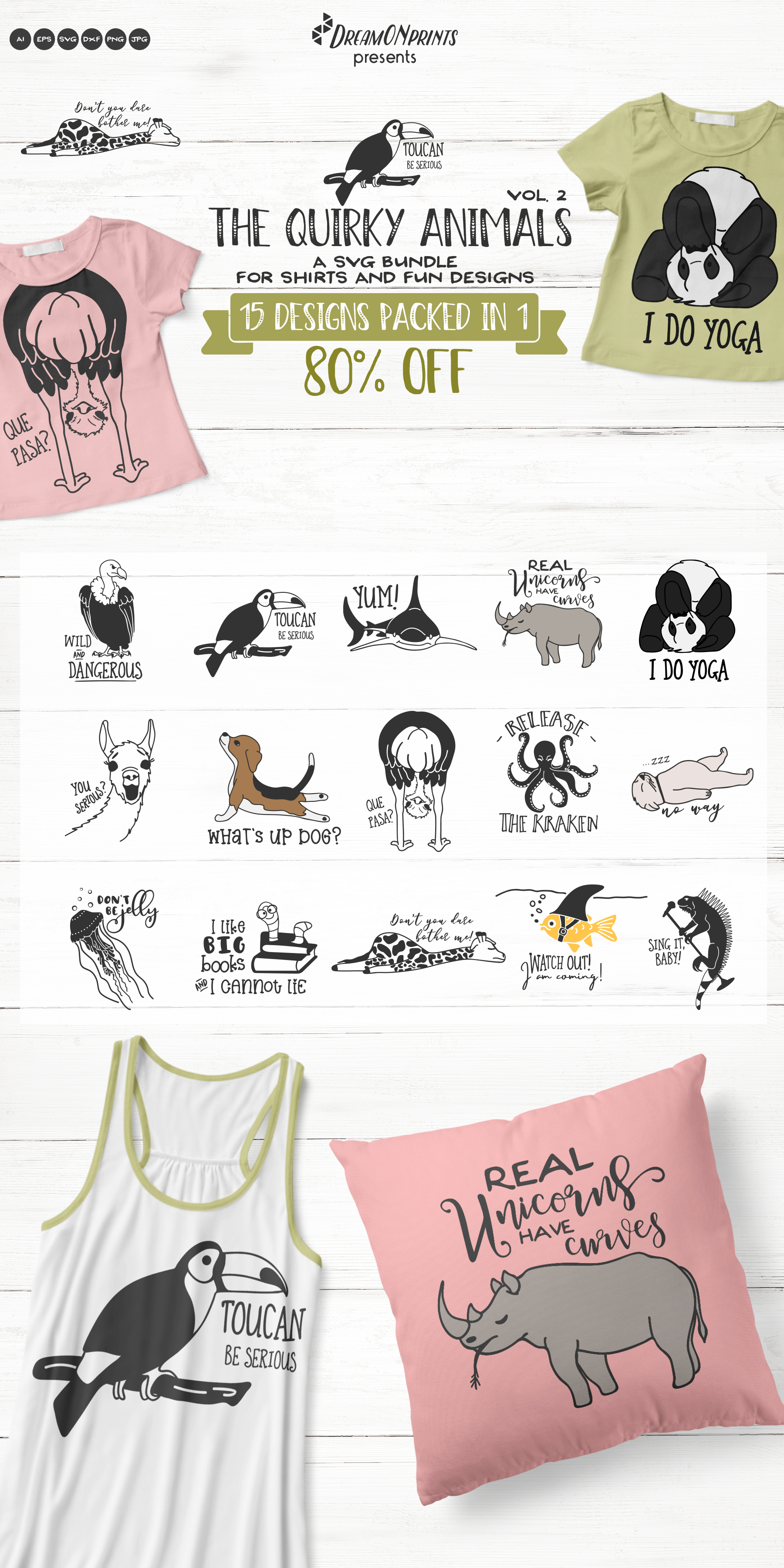 The Quirky Animals Vol. 2 | Funny SVG Bundle example image 17