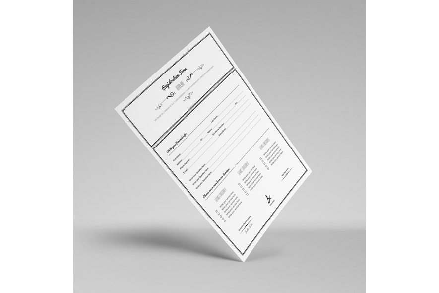 Registration Form Template v10 example image 2