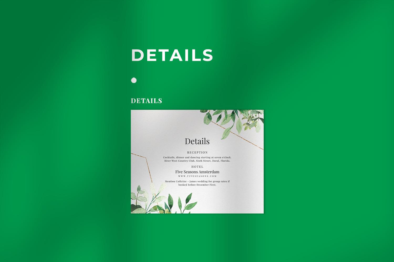 Green Foliage Wedding Suite example image 4