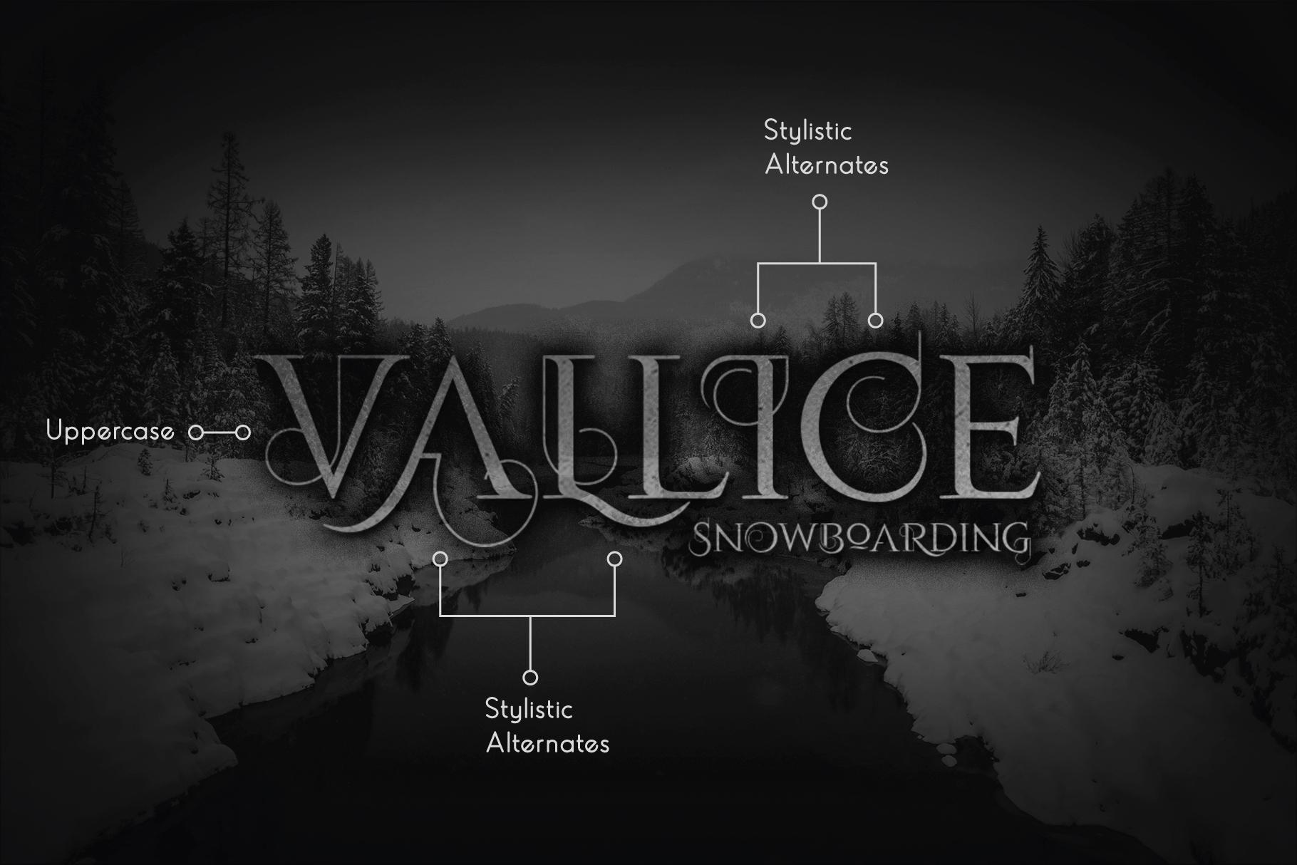 Volloa Decorative Serif Typeface example image 3